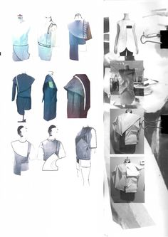 Fashion Sketchbook - fashion design development; draping; fashion portfolio // Jennifer Hayward