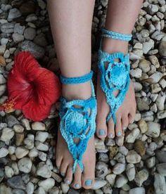 Crocheted Barefoot-Sandals