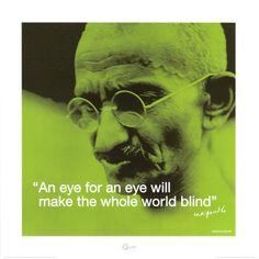Gandhi: Eye for an Eye Kunsttryk