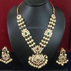 Three Layer South Sea Pearl Set Pachi Earrings