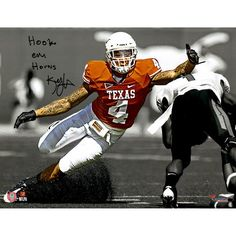 "Kenny Vaccaro Texas Longhorns Fanatics Authentic Autographed 11"" x 14"" Reaching For a Tackle Spotlight Photograph with Hook Em Horns Inscription - $59.99"