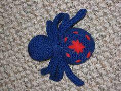 Ravelry, #crochet, free pattern, spider, amigurumi, stuffed toy, #haken, gratis patroon (Engels), spin, knuffel, speelgoed, insect, #haakpatroon