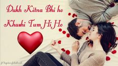 Love romantic status for Watsapp/True cute love status Hindi for girlfri. Love Shayari Romantic, Romantic Love Song, Romantic Status, Romantic Couple Images, Romantic Pictures, Anniversary Wishes For Couple, Teddy Day, Propose Day, Valentines Day Wishes