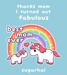 Cute Unicorn mom