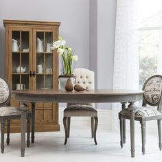 Round   Oval Extendable Dining Table With Natural Top   Dark Grey Base