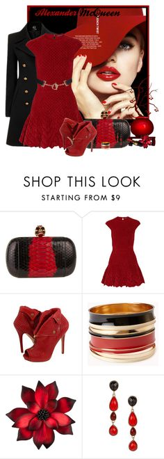 """Alexander McQueen!"" by sherri-2locos ❤ liked on Polyvore featuring Alexander McQueen, Forever 21, red flower, Chanel and Dorothy Perkins"