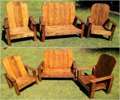 Outdoor furniture these days are getting high rates due to its importance. So craft furniture for your garden in inexpensive manner.Rehash wood pallets into wood pallet sofa set for your garden. This project due to its decent and simple appearance gives amazing view. #palletfurniturebench #woodenOutdoorFurnituresimple