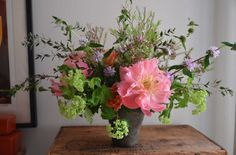 Wild english arrangement by Maleeha Kahn. From Floral Arranging 101.