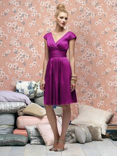 in persian plum | Lela Rose Bridesmaids Style LR166