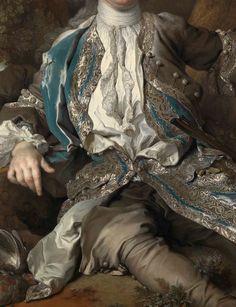 Nicolas de Largillière, Portrait d'un jeune Noble. Detail.c.1730
