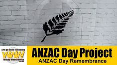 ANZAC Day Remembrance Project Lest we forget - Off the Cuff - Wacky Wood...
