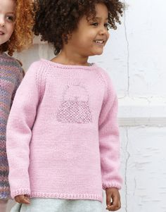 Heft Kinder 79 Herbst / Winter | 2: Kinder Pullover | Hellrosa / Rosé-Silber