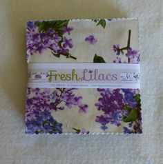 "Cotton Fabric,Quilt,Craft,Floral,Charm Pack,5"" Squares,Fresh Lilacs,Maywood Studio,Fast Shipping,CP"