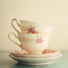 The Tea Cups  charming feminine 8x8 photograph by SusannahTucker, $30.00