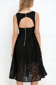 Sweet Rhapsody Black Lace Midi Dress at Lulus.com!