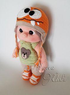PATTERN  Kid With Monster Hat crochet amigurumi by HavvaDesigns, $12.00