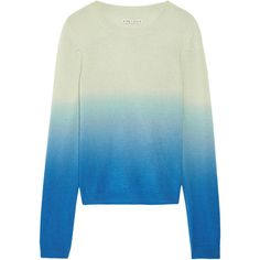Alice + Olivia Dalton cashmere sweater (€180) ❤ liked on Polyvore featuring tops, sweaters, blue, loose tops, blue sweater, loose fitting tops, alice olivia top and loose sweater