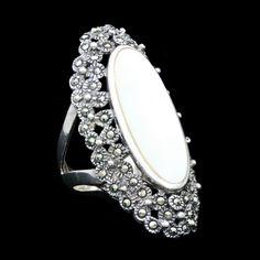 White Genuine Gemstone Drop .75 Chain Bag ViciBeads Unisex Pendant