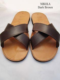 Handmade Brown leather sandals for men by GreeksandalsPenelope on Etsy Men Sandals, Greek Sandals, Gold Sandals, Leather Men, Soft Leather, Greek Men, Mocha Color, Brown Leather Sandals, Designer Sandals