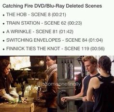 I wish they would have included the finnick ties a knot scene!! Haha take me for a walk XD