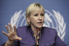 """""""The horrendous crimes against the Yezidis must stop. Sweden has argued for ICC jurisdiction regarding the situation in Syria and Iraq."""" – Margot Wallström #itsonu #yazidigenocide"""
