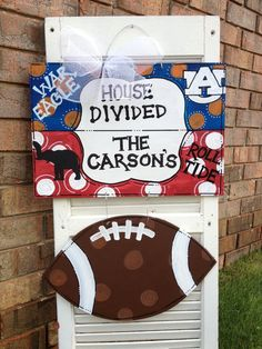 House Divided Door Hanger by JustPlainADoorAble on Etsy $48.00 : divided door - Pezcame.Com