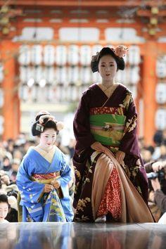 Maiko at Setsubun festival