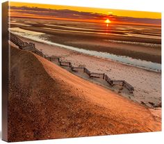 Beach Sunset 232 Framed Wall Art, Beach Photography, Cape Cod Coastal Wall Art, Dune Sunset Photo Large Art Oversized Print Gold Blue Nautical Decor Coastal Wall Art