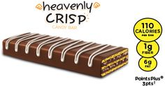 SKINNY COW®  Milk Chocolate Flavor Heavenly Crisp is like a piece of heaven on earth. Delicate wafers layered with delicious chocolate crème and covered in a milk chocolatey coating. Yes, the skies will part. Love 'em in single serve and 6-pack.