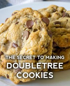 Perfect Chocolate Chip Cookies, Chocolate Cookie Recipes, Homemade Chocolate, Cookie Desserts, Just Desserts, Dessert Recipes, Chocolate Chips, Doubletree Chocolate Chip Cookie Recipe, Mint Chocolate