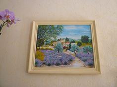 reproduction  paysage provençale,  huile