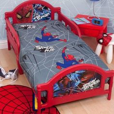 Fun awesome spider man bedroom design theme idea for small bedroom from getitcut.com