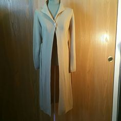 Tan Cardigan Long One Button Cardigan Forever 21 Jackets & Coats