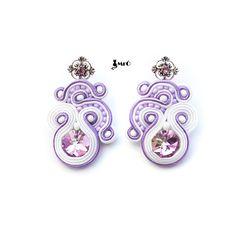 Wedding Soutache earrings  Charming by MrOsOutache on Etsy