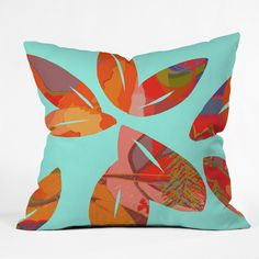 Paula Ogier Optimism Throw Pillow   DENY Designs Home Accessories