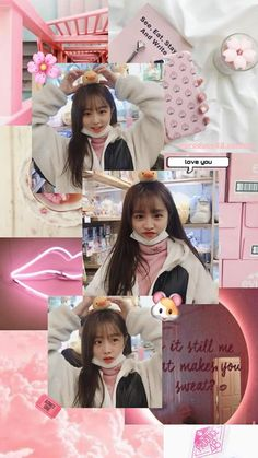 Wallpaper For Your Phone, Lock Screen Wallpaper, One Pic, 3 In One, Cute Lockscreens, Beautiful Girl Makeup, Japanese Girl Group, Kpop Aesthetic, Aesthetic Wallpapers