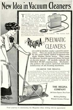 Vintage Advertisements for Vacuum Cleaners ~ Free Clipart
