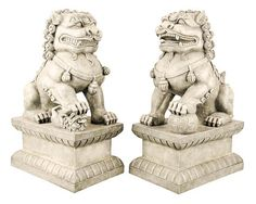 Large set of Foo Dogs - Guardian Lions | Museum Store Company gifts, jewelry and more - Think I need  these for my front porch!