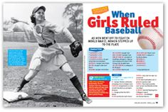 In the 1940s, as men went off to fight in World War II, women stepped up to the plate as players in the first-ever women's professional baseball league. Just in time for Women's History Month. Skill focus: understanding historical fiction