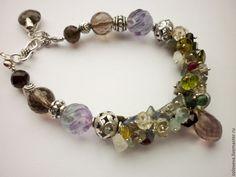 """Купить Серебряные браслет""""Копи царя Соломона"""" - браслет из камней, натуральные камни, драгоценные камни"""