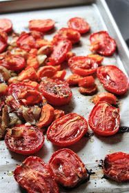 Fresh, beautiful, local Roma Tomatoes! They're just begging you to make tomato sauce.          Roasted Tomato Sauce  From A Sweet Pea ...