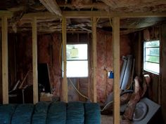 Melissa and Brian's Great DIY Adventures: Photos of 2nd Mobile Home Remodel: New ceiling