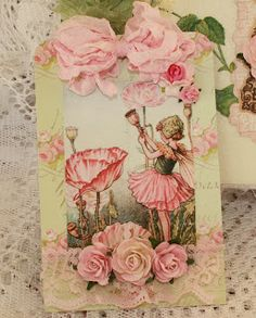 flower fairy card - shabby chic style - simply stunning Sage's Rose Garden