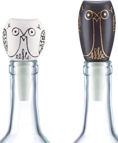 Kate Spade Woodland Park Set of 2 Owl Bottle Stoppers