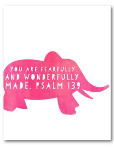 Naptime Diaries - Psalm 139 elephant  Getting this for Barajas Baby's room! But in grey :)