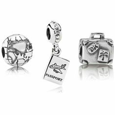 Globe clip in sterling silver pandora pandora charm collection the pandora a whole new globe gift set includes suitcase charm 790362 passport charm globe clip 791182 each pandora charm set includes a free charm sciox Choice Image