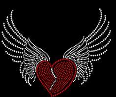 Rhinestone Transfers Direct - Biker Heart with Wings Rhinestone Heat Transfer, $8.95 (http://www.rhinestonetransfersdirect.com/biker-heart-with-wings-rhinestone-heat-transfer/)