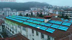 Εγκατάσταση ηλιακών συλλεκτών με σωλήνες κενού για παροχή Ζεστού Νερού Χρήσης (ΖΝΧ) για όλο το Νοσοκομείο και παροχή ζεστού νερού για υποβοήθηση θέρμανσης όλου του νοσοκομείου την περίοδο του χειμώνα.  Το καλοκαίρι παρέχουμε Ζεστό Νερό Χρήσης (ΖΝΧ) και ηλιακή ψύξη.