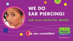 Did you know we do ear piercing? Ear Piercings, Did You Know, Salons, Stylists, Fun, Lounges, Earrings, Ears Piercing, Ear Piercing