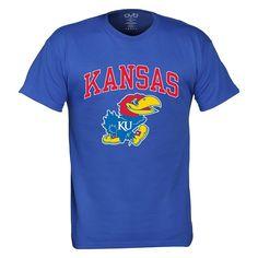Men's Kansas Jayhawks Pride Mascot Tee, Size: Large, Brt Blue